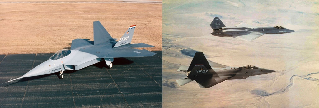 YF-22 and YF-23 prototypes