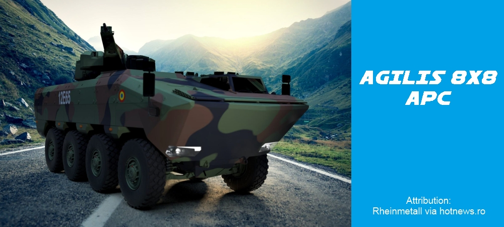 AGILIS 8x8 armored personnel carrier